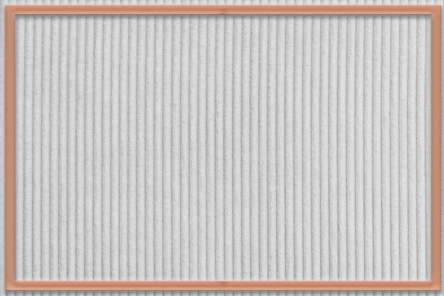 Rahmen auf strukturiertem hintergrund aus grauem cord