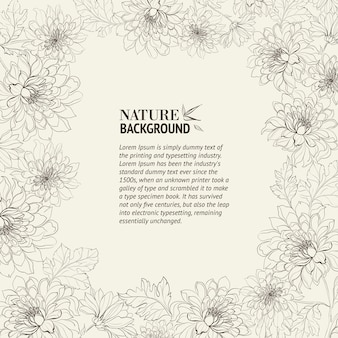 Rahmen der chrysantheme