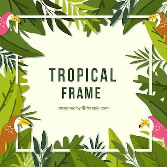 Rahmen der tropischen blätter