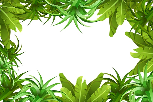 Rahmen dschungel vegetation.