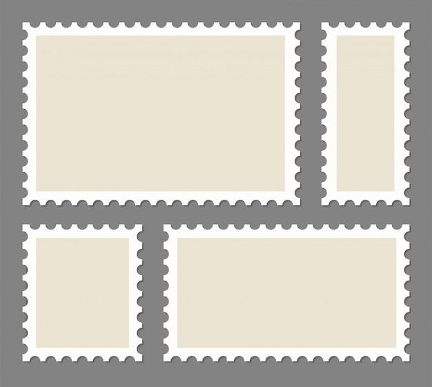 Rahmen für leere briefmarken