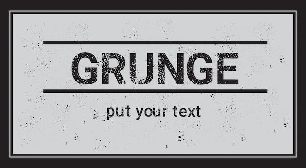 Rahmen für textfreiraum mit grunge textured background abstract template