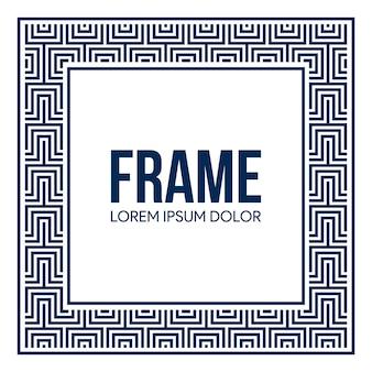 Rahmen hintergrund mit quadratischen muster