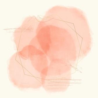 Rahmen im abstrakten aquarellstil