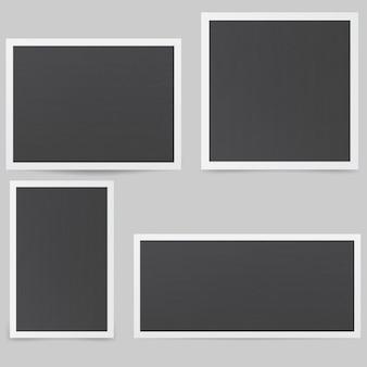 Rahmen im retro-stil. schwarze fotorahmen.