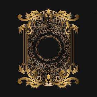 Rahmen luxus mit goldener farbe