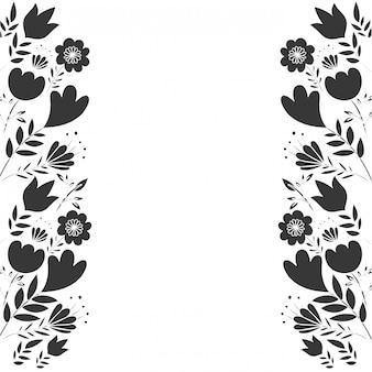 Rahmen mit blumen und blättern symbol