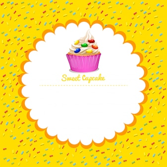 Rahmen mit cupcake