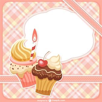 Rahmen mit cupcakes