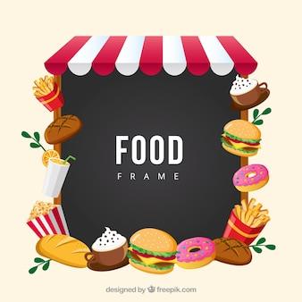 Rahmen mit fast food