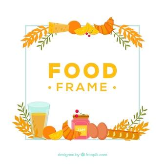 Rahmen mit frühstück essen