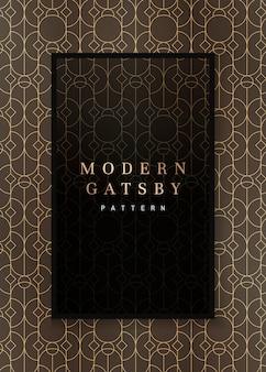 Rahmen mit gatsby-muster