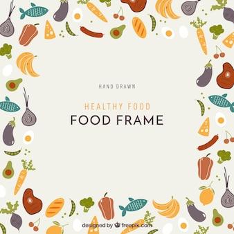 Rahmen mit gesundem essen