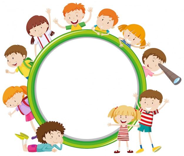 Rahmen mit glücklichen kind