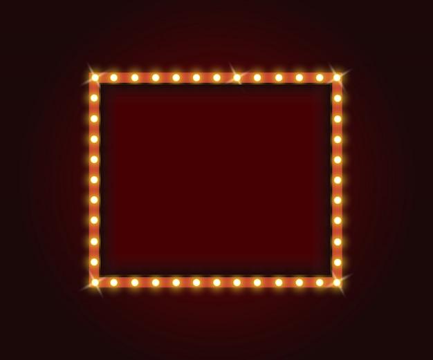 Rahmen mit glühlampen