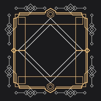Rahmen mit goldenem rand