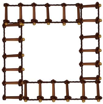 Rahmen mit holzleiter