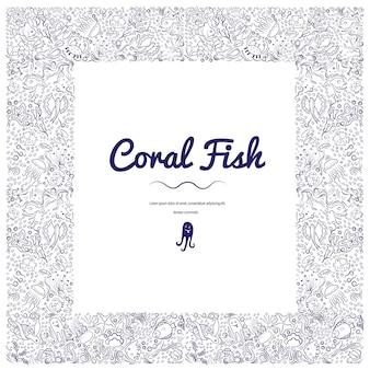 Rahmen mit korallenfischen-06