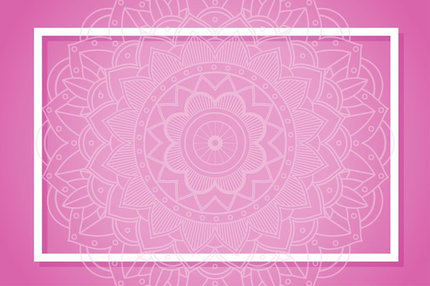 Rahmen mit mandala-designs