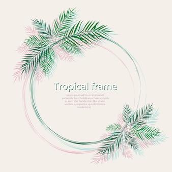 Rahmen mit palmblättern
