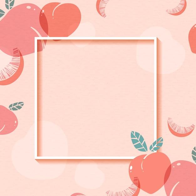Rahmen mit pfirsichmuster