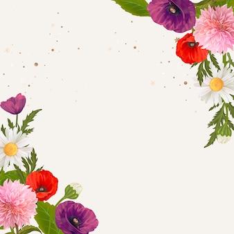 Rahmen mit wildblumen