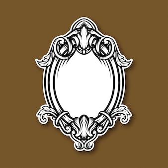 Rahmen vintage illustration