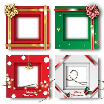 Rahmenfoto der frohen weihnachten und des guten rutsch ins neue jahr