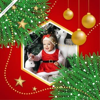 Rahmenhintergrund der frohen weihnachten mit weihnachtsverzierung