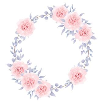 Rahmenhintergrund mit blumen mit rosen
