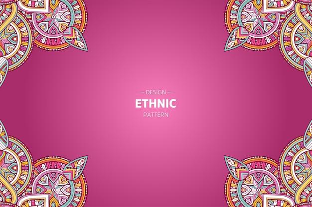 Rahmenhintergrund mit orientalischem mandala