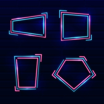 Rahmenkollektion im neon-design