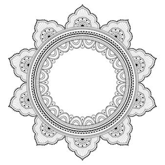 Rahmenmandala, mehndi. dekorative verzierung im ethnischen stil.
