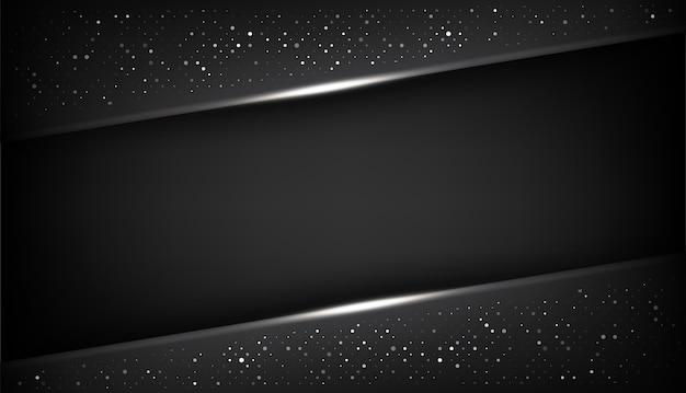 Rahmenplan-designtechnologie der überlappungsformzusammenfassung schwarze mit funkeln und lichteffekt