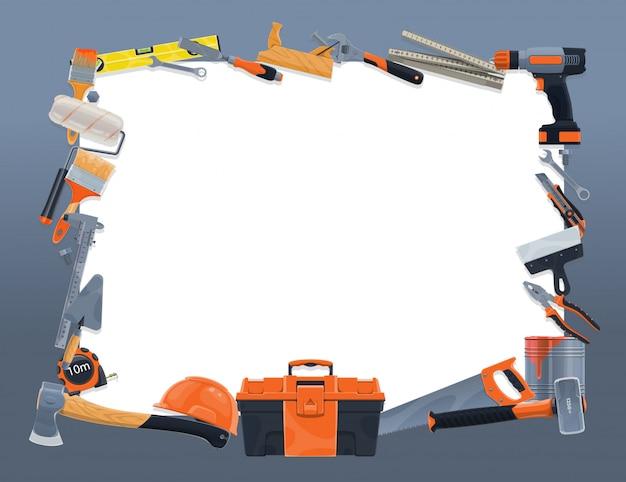 Rahmenrahmen für bau- und reparaturwerkzeuge