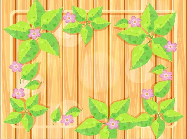 Rahmenschablone mit rosa blumen
