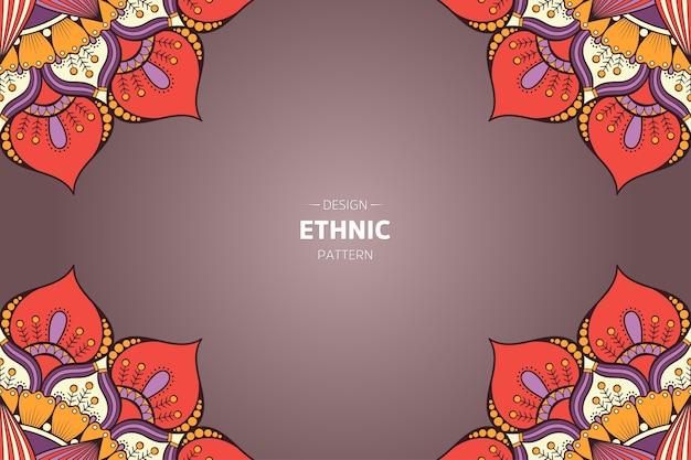 Rahmenvektor mit abstraktem orientalischem mandala