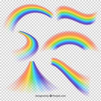 Rainbows sammlung in verschiedenen formen