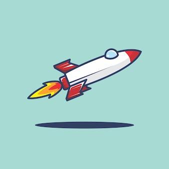 Rakete-cartoon-illustration