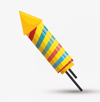 Rakete feuerwerk regenbogen illustration