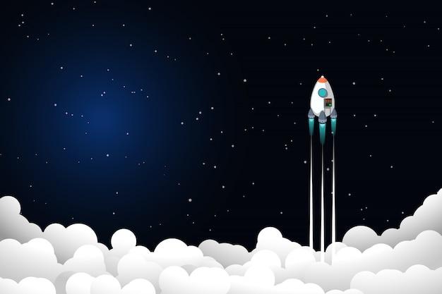 Rakete fliegt hoch