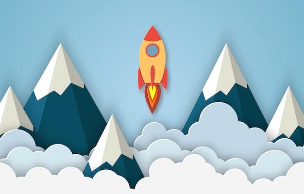 Rakete für startup-business-projekt