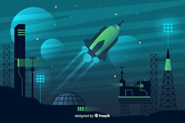 Rakete hintergrund abheben