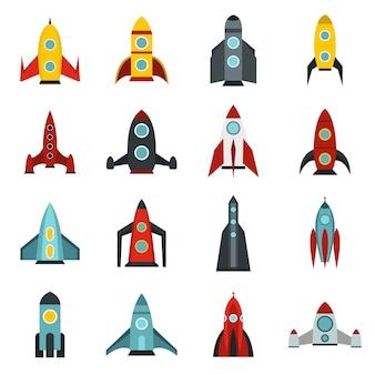 Rakete icons set