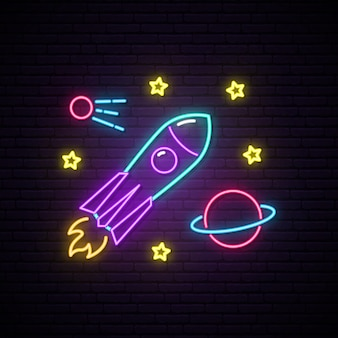 Rakete leuchtreklame.