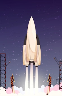 Rakete raketenstart zusammensetzung