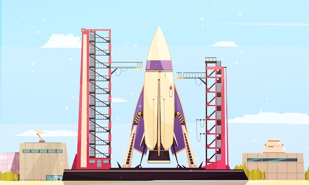 Rakete vor ort zusammensetzung