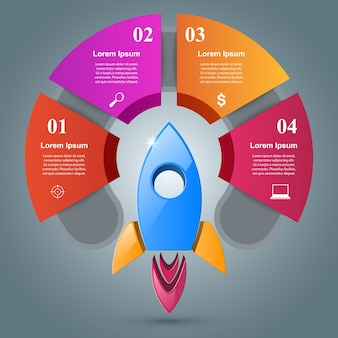 Raketen-infografik