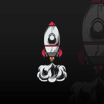 Raketen-maskottchen-illustration
