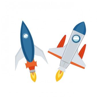 Raketen starten isoliert